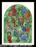 Autographs, Marc Chagall Tribe of Asher Signed Litho