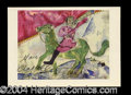 Autographs, Marc Chagall Rare Signed Postcard Print