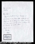 Autographs, Mark David Chapman Handwritten Letter Signed