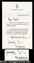 Autographs, Prince Charles Typed Letter Signed