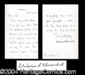Autographs, Winston Churchill Signed Letter Good Content