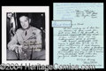 Autographs, Mark W. Clark Signed Photograph WWII