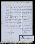 Autographs, Thomas Corwin Handwritten Letter Signed