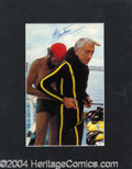 Autographs, Jacques Cousteau Impressive Signed Photo
