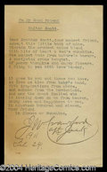 Autographs, Jack Crawford Rare Typed Poem Signed