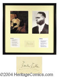 Autographs, Countee Cullen Scarce Ink Signature US Poet