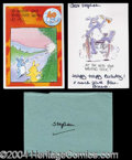 Autographs, Princess Diana Signed Birthday Card