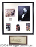 Autographs, Charles Dickens Impressive Signed Display