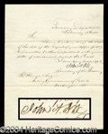 Autographs, John A. Dix Civil War Gen. Signed Letter