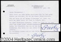 Autographs, Karl Donitz Typed Letter Signed WWII