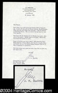 Autographs, James H. Doolittle Signed Letter Good Content