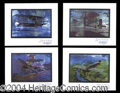 Autographs, James H. Doolittle Signed Litho Set of 4