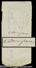 Autographs, Stephen A. Douglas Signed Check (Lincoln)