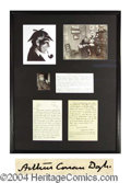 Autographs, Sir Arthur Conan Doyle ALS Good Content