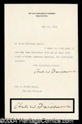 Autographs, Charles W. Fairbanks VP Typed Letter Signed