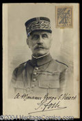 Autographs, Ferdinand Foch Vintage Signed Photo WWI