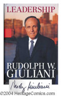 Autographs, Rudy Giuliani Signed First Edition Book