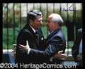 Autographs, Mikhail Gorbachev Rare Signed Photo w/Reagan