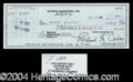 Autographs, John Gotti Signed Bank Check Mafia