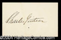 Autographs, Charles Guiteau Signature Garfield Assassin