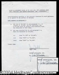 Autographs, Jim Henson Signed Contract Agreement