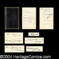 Autographs, 19th Century Autograph Book Lincoln & More