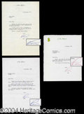 Autographs, L. Ron Hubbard 3 Typed Letters Signed Lot