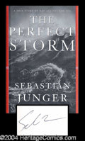 Autographs, Sebastian Junger Signed Perfect Storm Book