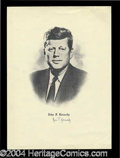 Autographs, Rose Kennedy Signed JFK Engraving