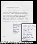 Autographs, Kennedy Assassination Oswald's Captors Signed
