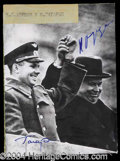 Autographs, Nikita Krushchev & Yuri Gagarin Signed Photo