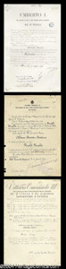 Autographs, Kings of Italy Signed Document Lot