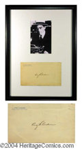 Autographs, Ring Lardner Signature Framed Display