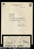 Autographs, Curtis E. LeMay Typed Letter Signed