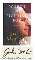 Autographs, John McCain Signed First Edition Book