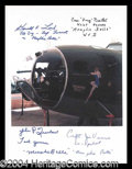 Autographs, Memphis Belle Signed Crew Photo WWII