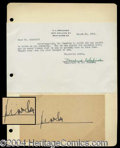 Autographs, H.L. Mencken Ink Signature