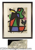 Autographs, Joan Miro Signed Sculptures VI Lithograph