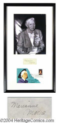 Autographs, Marianne Moore Signature Framed Display