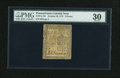Colonial Notes:Pennsylvania, Pennsylvania October 25, 1775 6d PMG Very Fine 30....