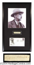 Autographs, Eugene O' Neill Signed Framed Display