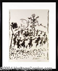 Autographs, Pablo Picasso Signed Dance of Peace Litho