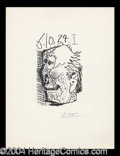Autographs, Pablo Picasso Signed Illustration I Litho
