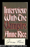 Autographs, Anne Rice Signed Interview Vampire Book