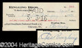 Autographs, Charles Ringling Signed Bank Check