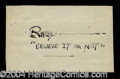 Autographs, Robert Ripley Signature Page
