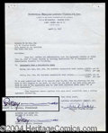 Autographs, Robert Ripley Signed Contract Agreement
