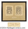 Autographs, Diego Rivera Ink Signature Framed