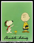 Autographs, Charles M. Schulz Signed Peanuts Photo