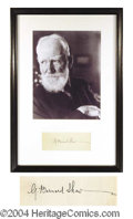 Autographs, George Bernard Shaw Signature Framed